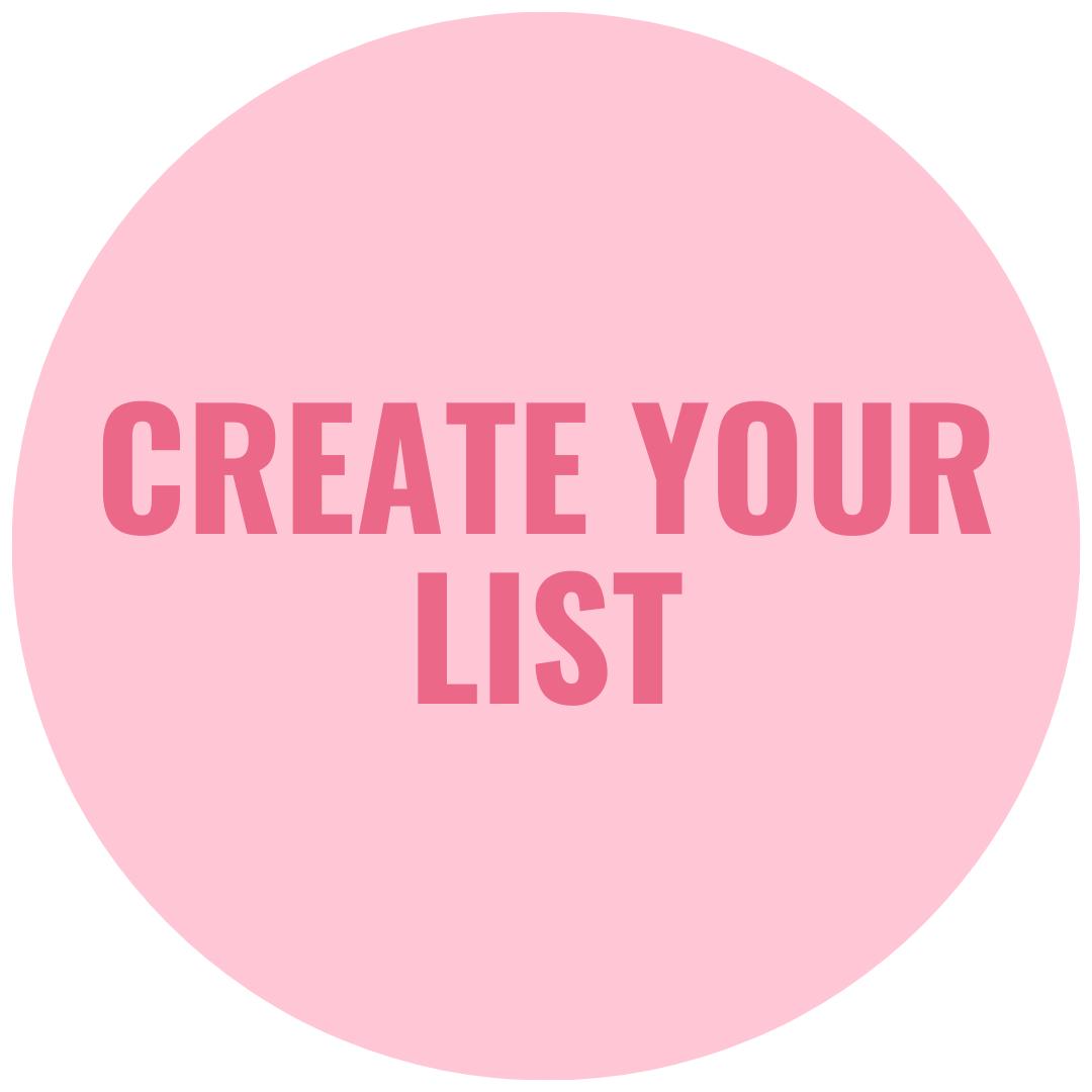 create your list