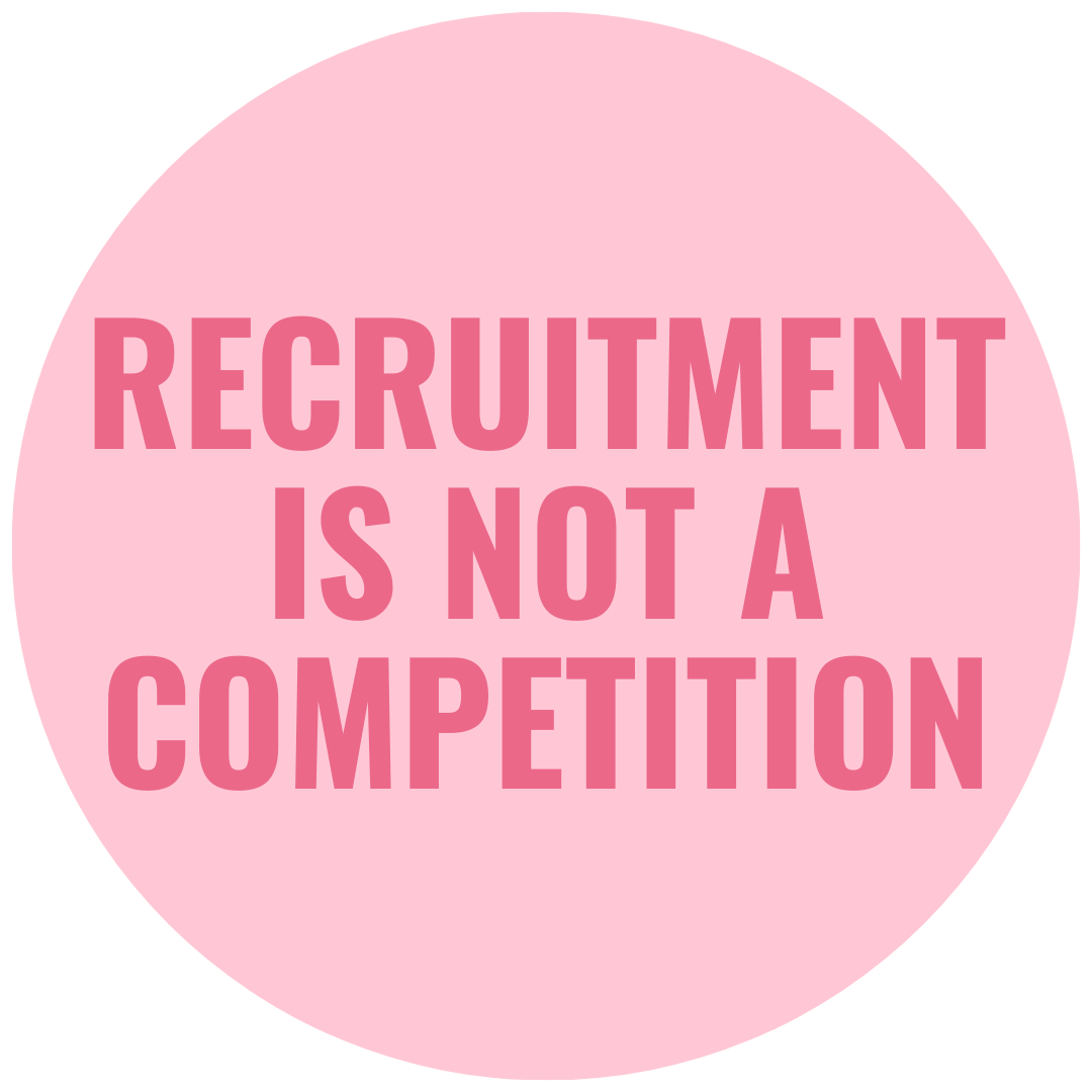 recruitment is not a competition