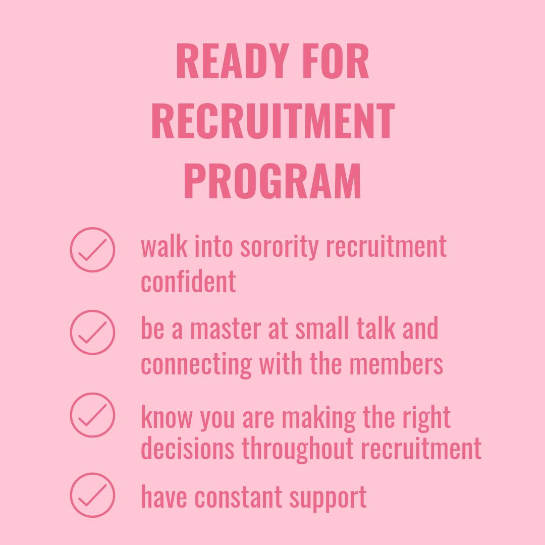 ready for recruitment program