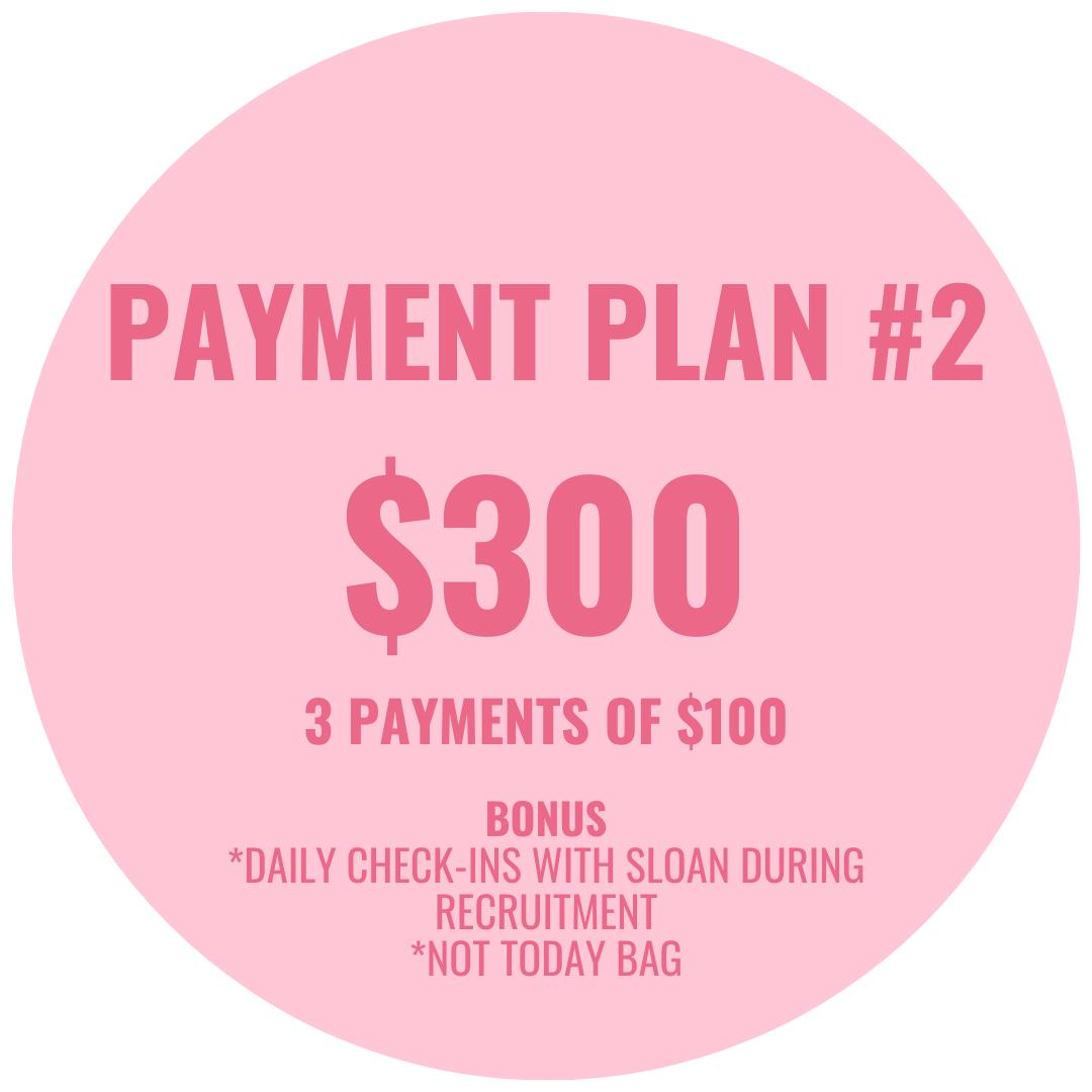 payment plan #2