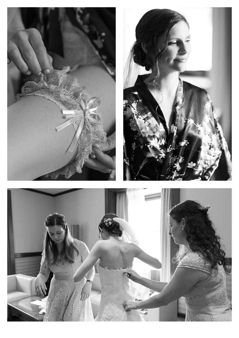 Schloss Hernstein Bride getting ready
