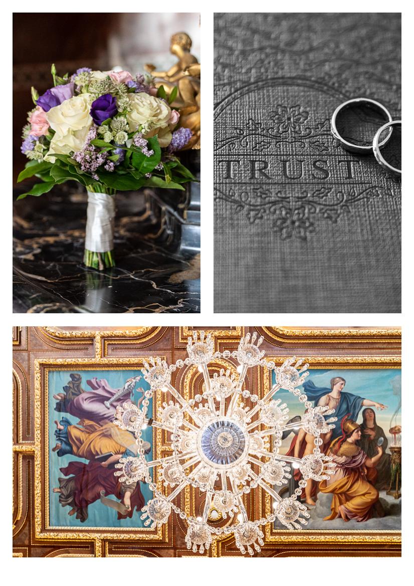 Schloss Hernstein bouquet and chandelier