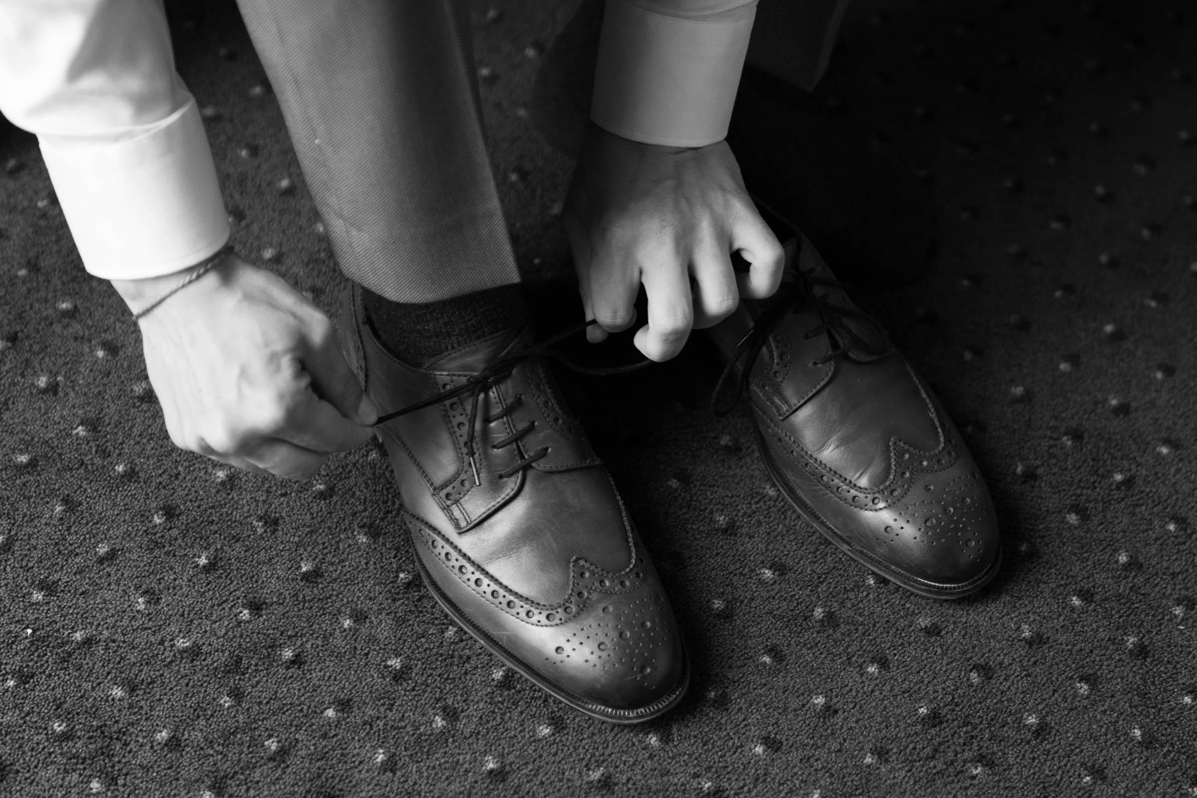 Schloss Hernstein Wedding groom shoes