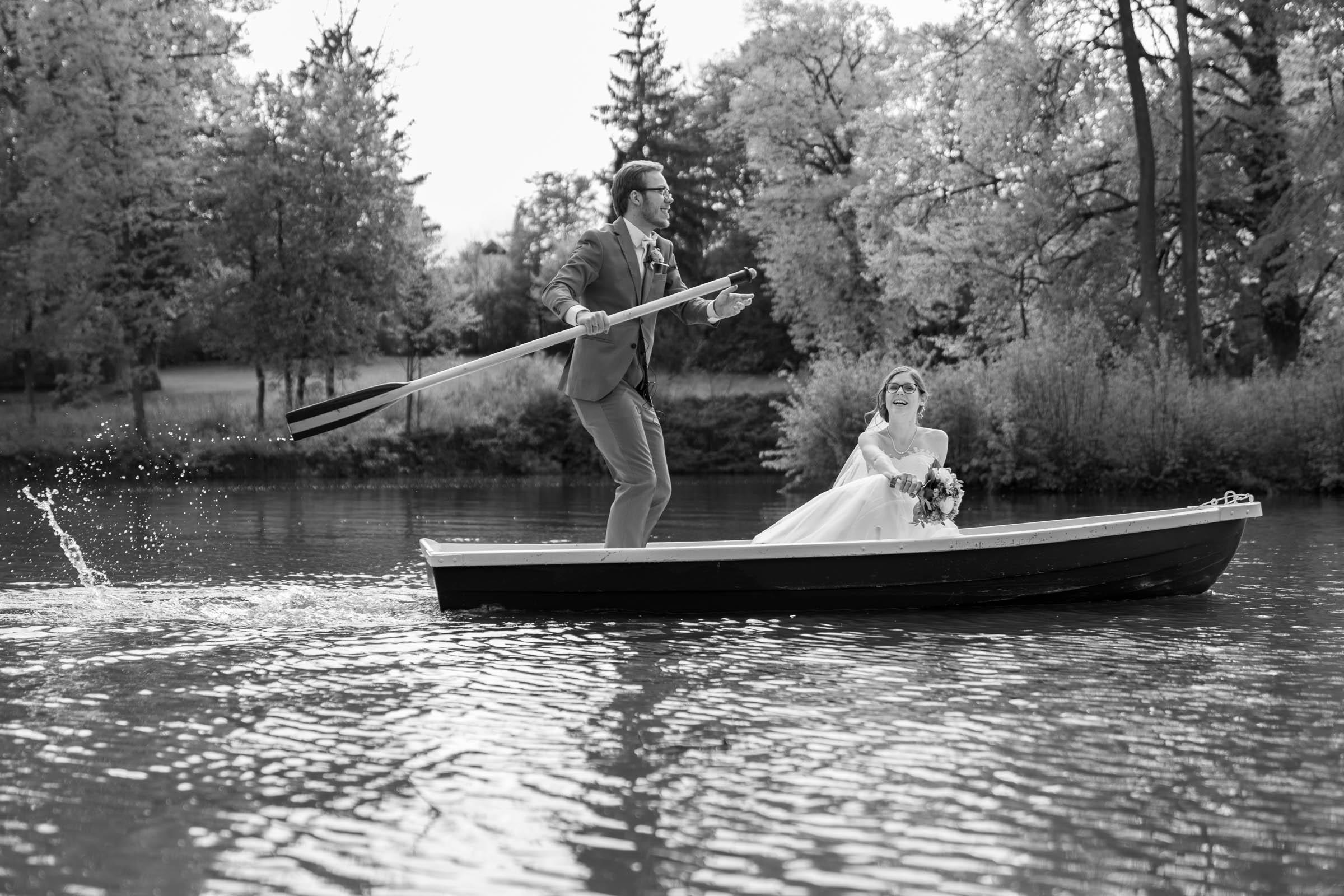 Schloss Hernstein Wedding boat