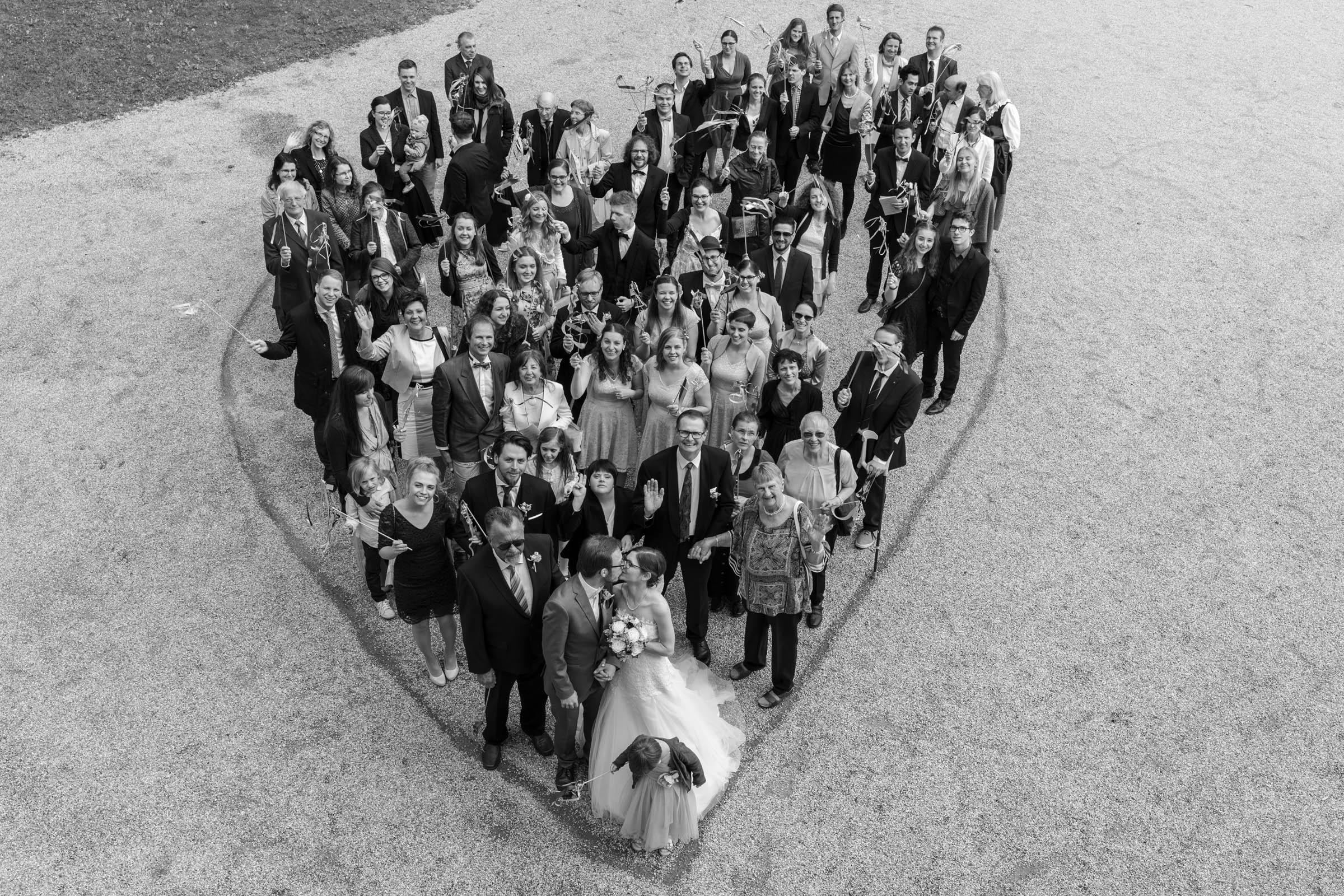 Schloss Hernstein Wedding group picture