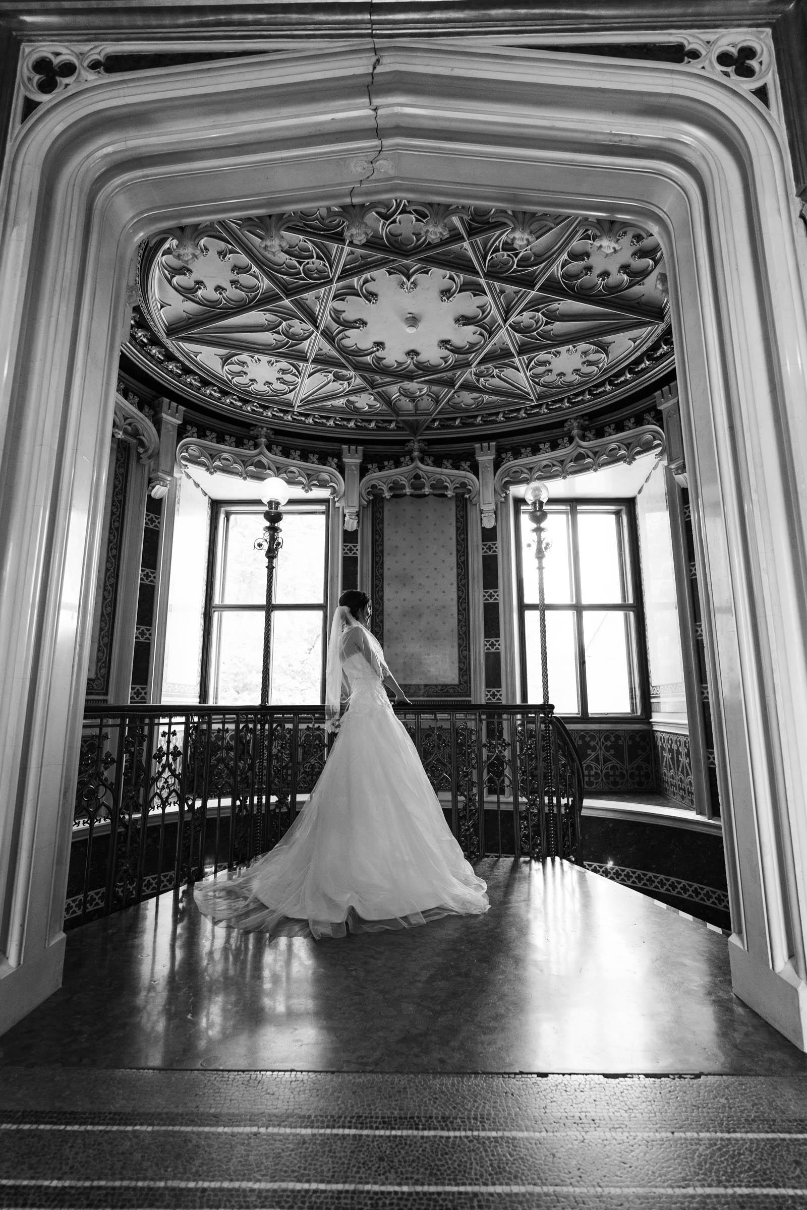 Schloss Hernstein Wedding bride's portrait