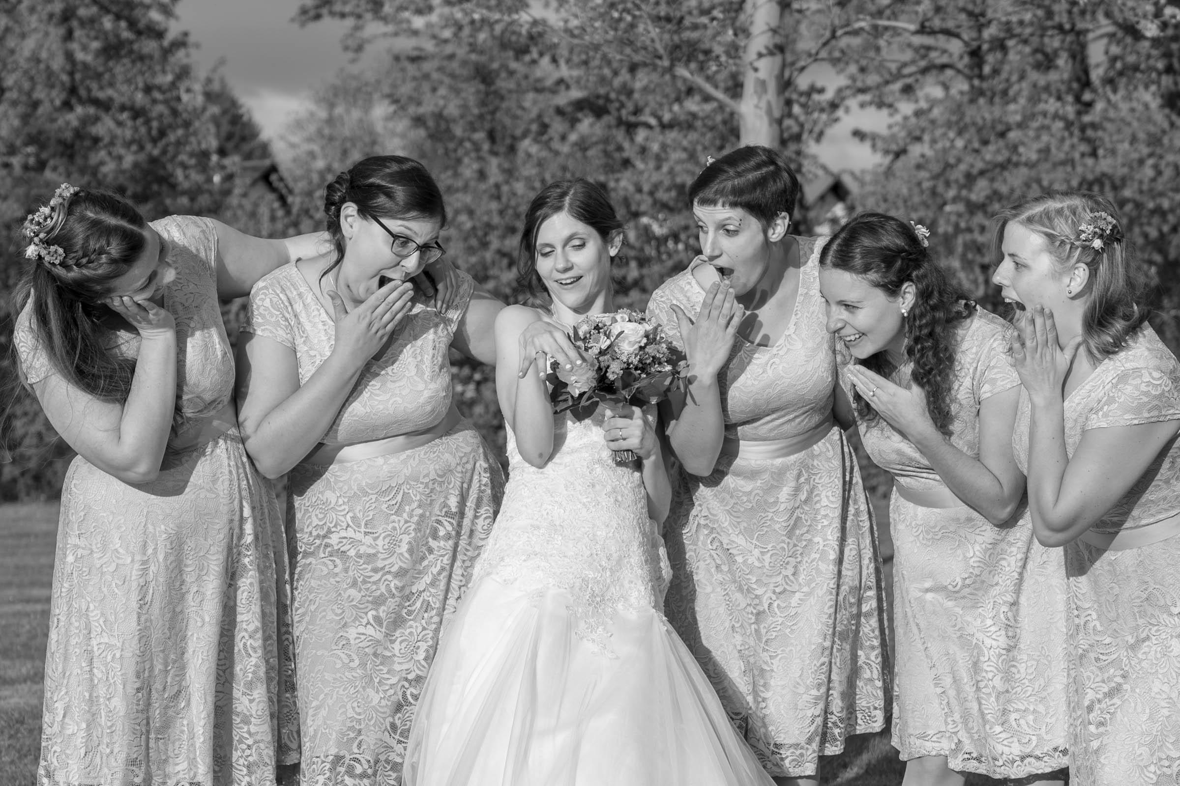 Schloss Hernstein Wedding bridesmaids fun bride