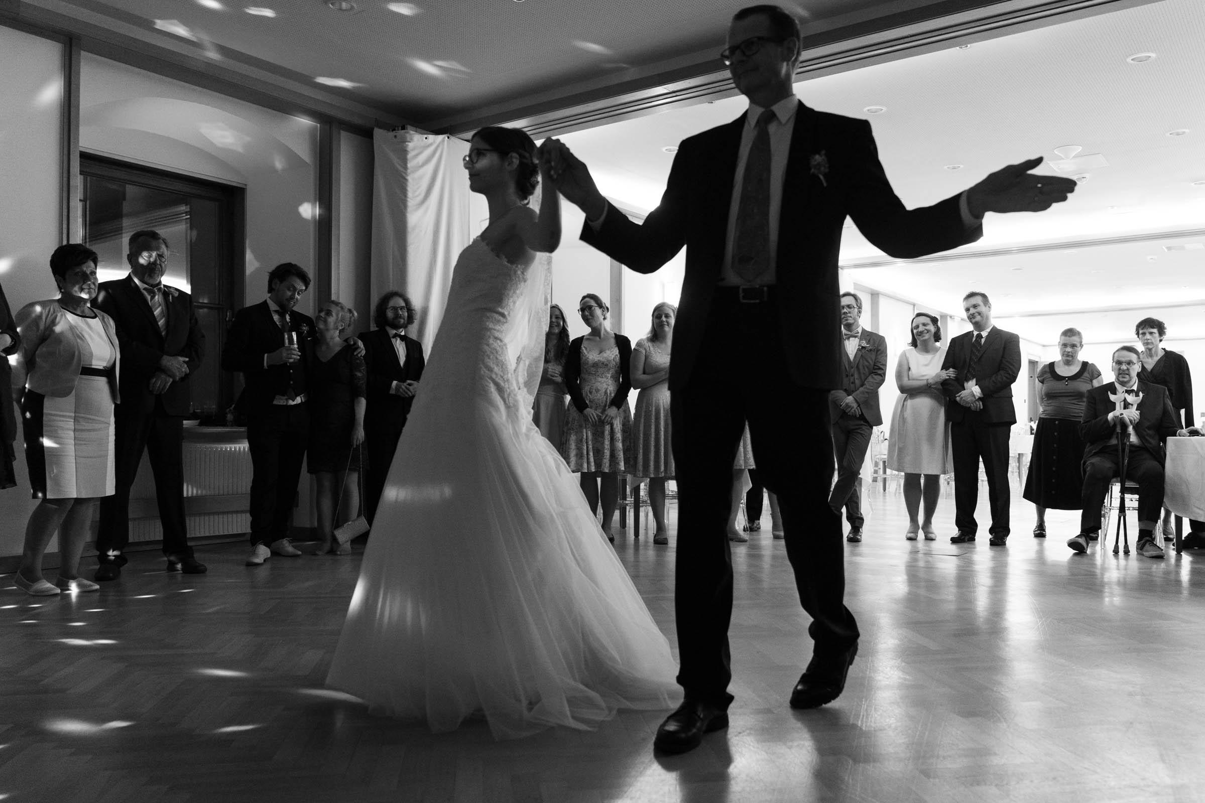 Schloss Hernstein Wedding reception first dance father
