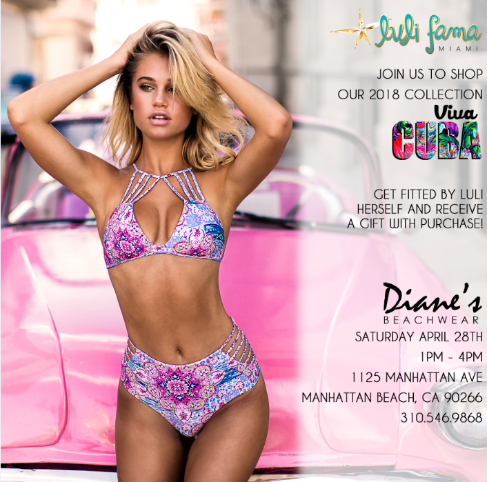 Luli Fama - Viva Cuba - Join us to shop our 2018 collection Viva Cuba by Luli Fama. Get fitted by Luli herself and receive a gift with purchase.