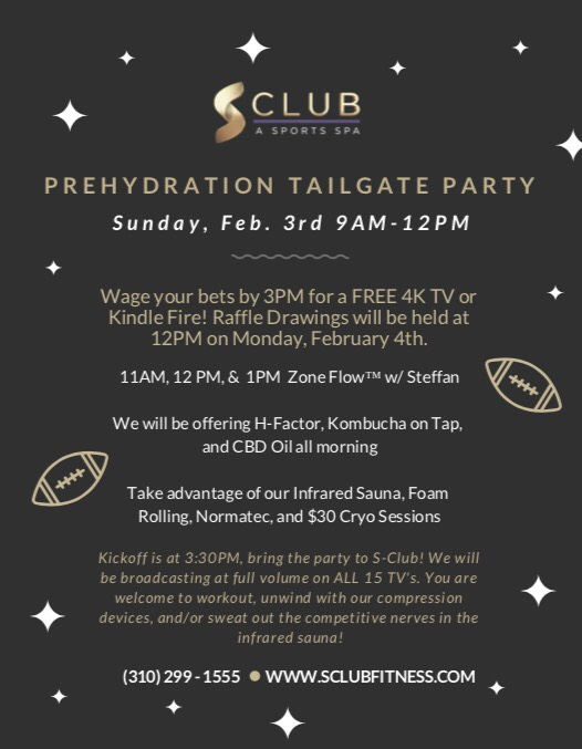 S-Club Prehydration Tailgate Party