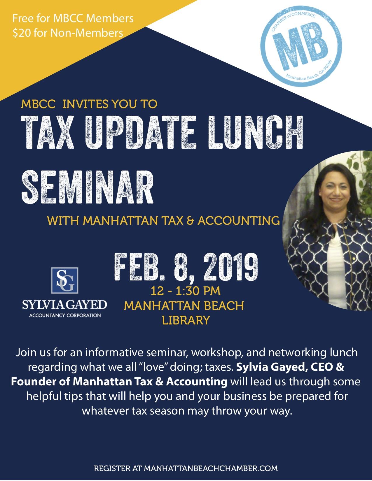 Tax Update Lunch Seminar