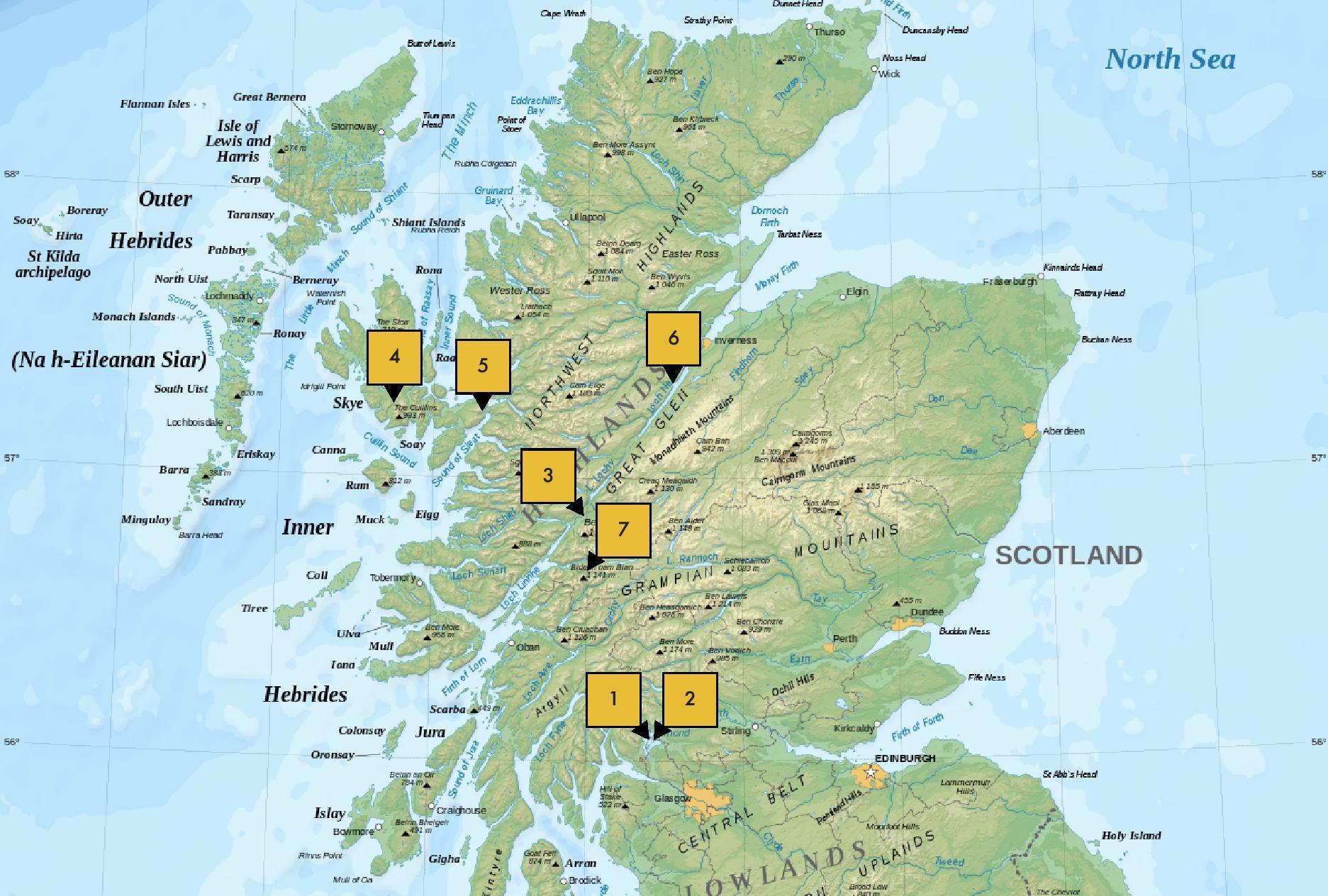 THE TRIAL TRIP: SCOTLAND MAP