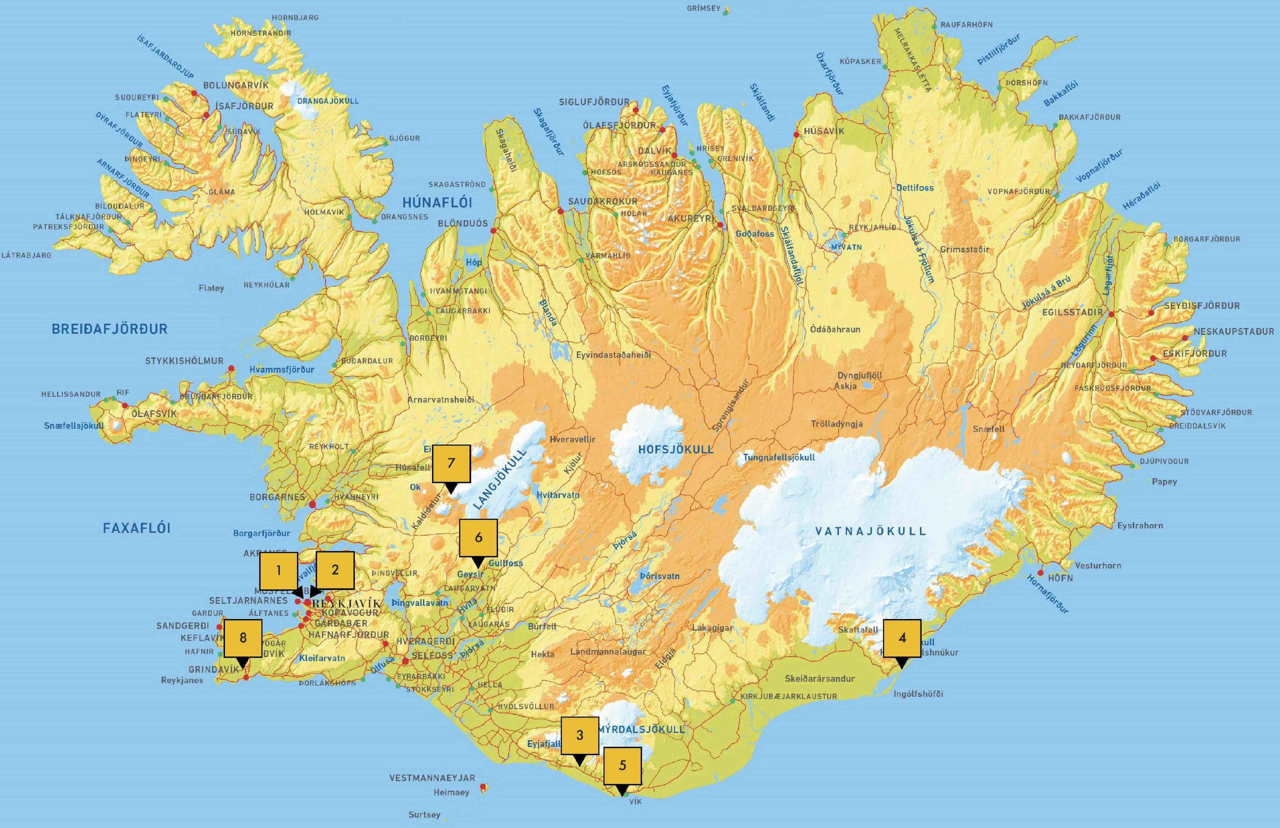THE BIG TRIP: ICELAND MAP