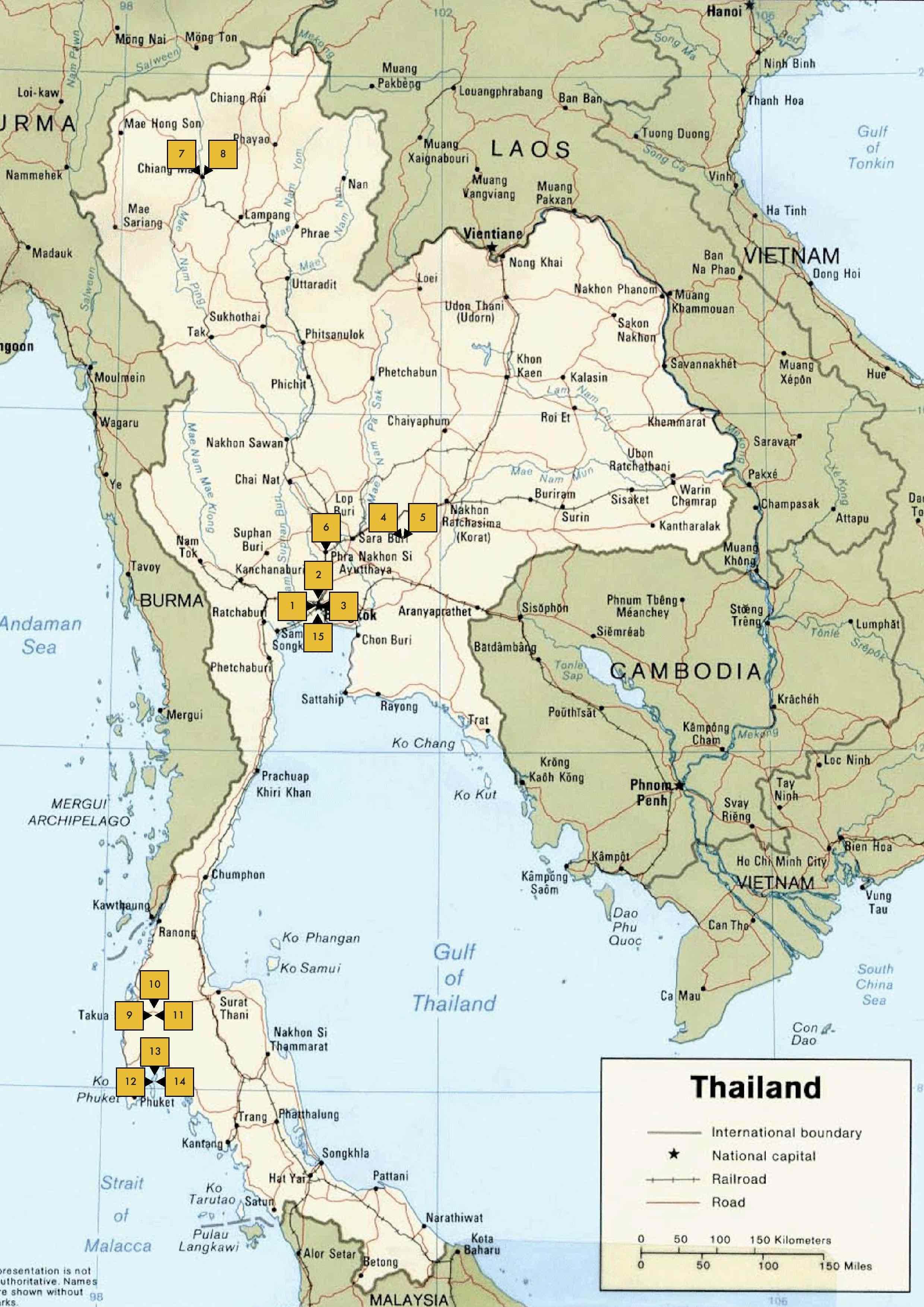 THE BIG TRIP: THAILAND MAP