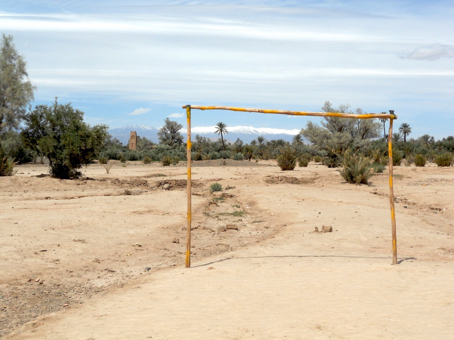 MAKE-DO FOOTBALL PITCH IN SKOURA
