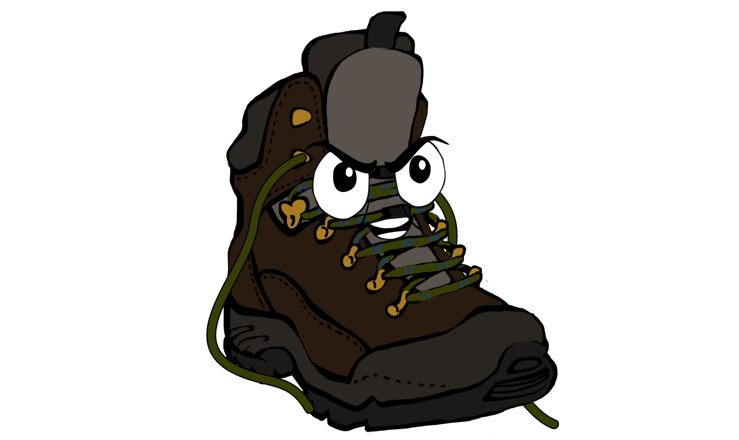 Hiker - Tough as old boots and as tough as they come, Hiker is the self-proclaimed leader of a group of solitary footwear that Deano stumbles across on his 'adventures'. Full of grip and power he maybe, but is there some vulnerability within Hiker?