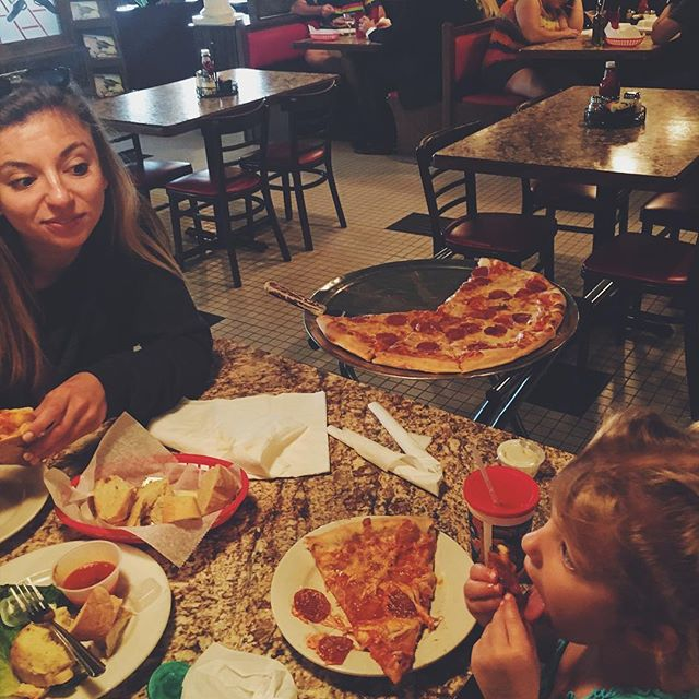 Our fav spot in the hood...these moments are the best!!! Best pizza in town as well! #familytimebesttime
