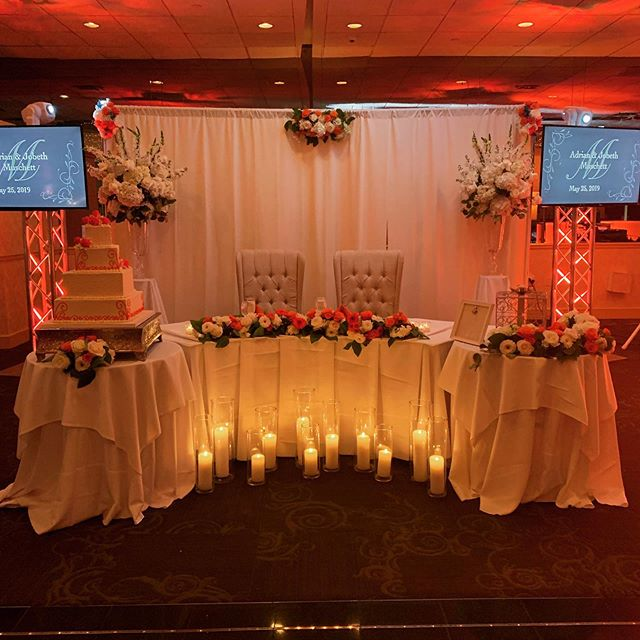 Beautiful sweetheart table set up by @paintedladyevents . . . #theelan #theelannj #njvenue #njvenues #njweddingvenue #sweethearttable #sweethearttablesetup #paintedladyevents