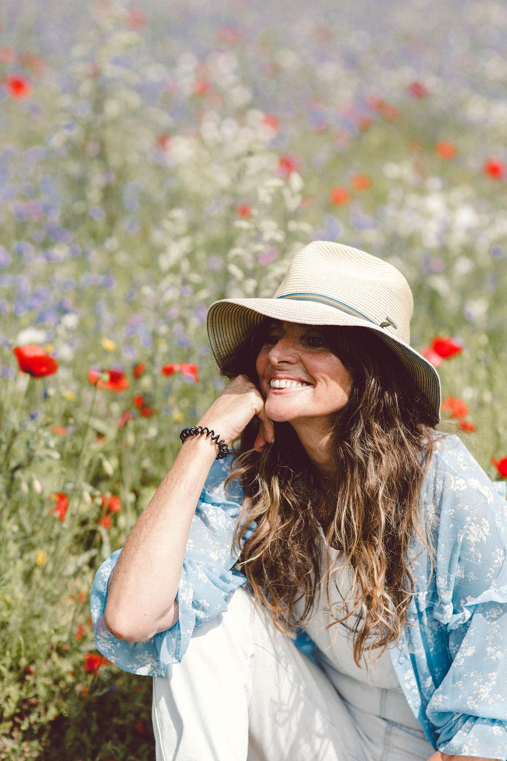 Jo Kemp Photographer in a field