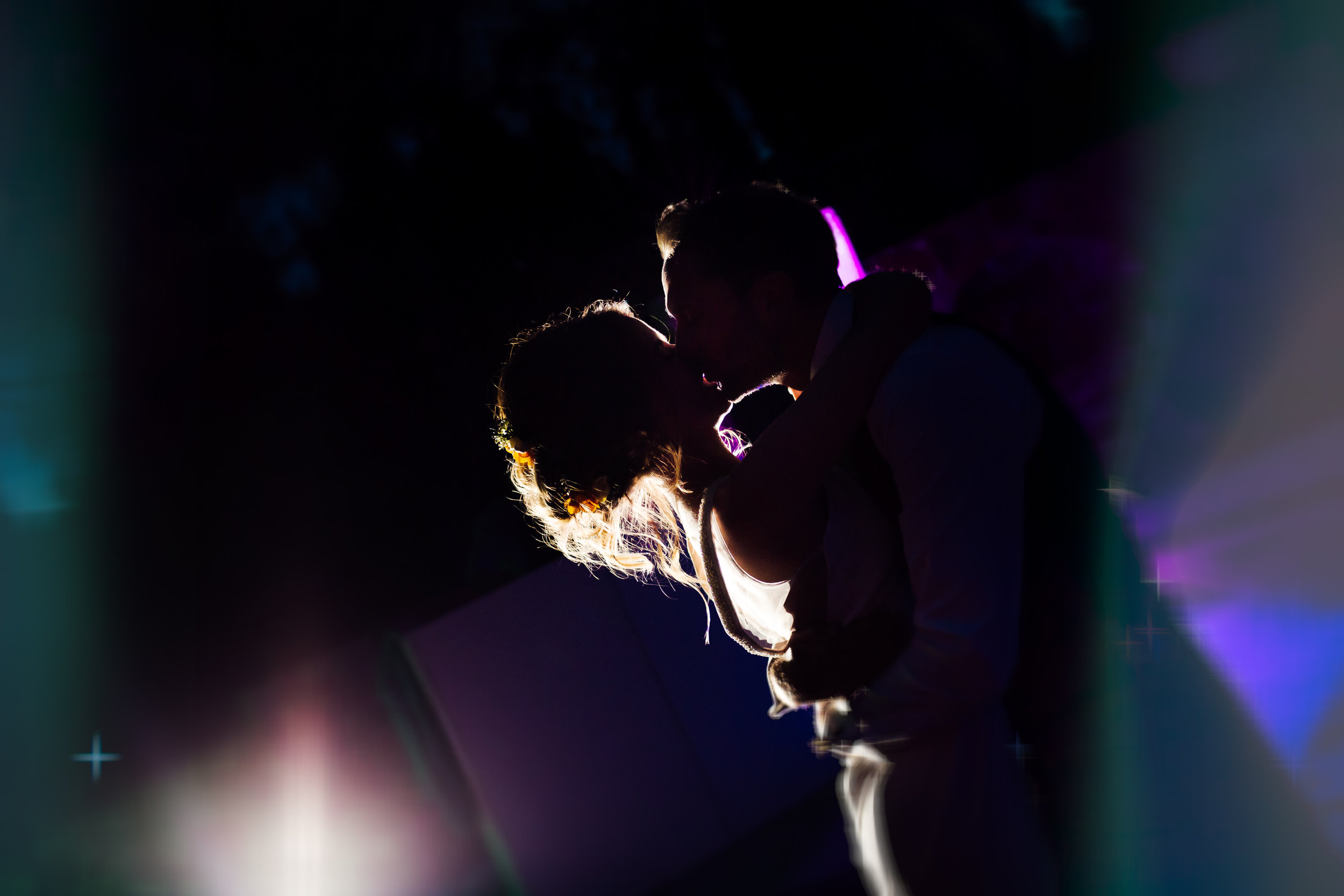 A bride and groom dancing on the night of their wedding at Cal Mingo, Barcelona by Jo Kemp Photography