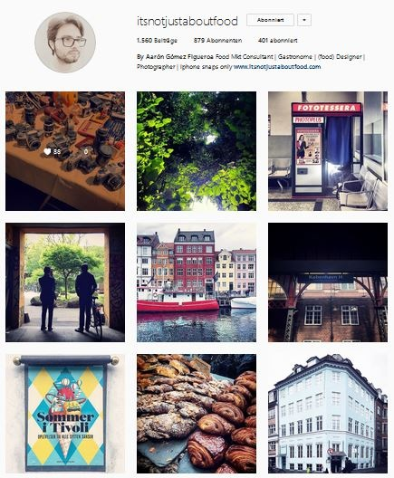 - Photos of his bread, brioches, delicious mexican treats or simply pictures of his travels around the world create a beautiful, colorful instagram account! Follow @itsnotjustaboutfood