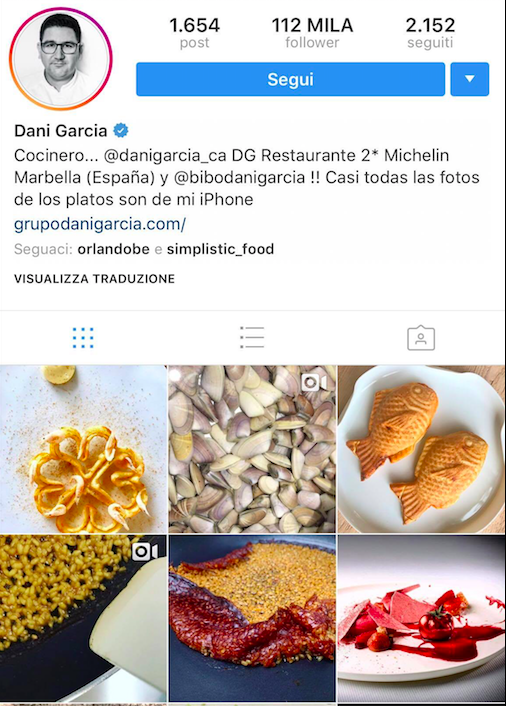 - Check out 2 michelin star, Spanish Chef: Daniel Garcia. His Instagram page is filled with beautiful dishes featuring Andalusian seafood.