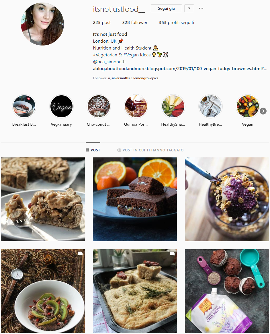 It's not just food - Today we suggest you this food blogger, an Italian girl studying in the UK and sharing how to eat healthy food in such a different country as England. Go follow her!It's not just food... it's good food, first of all. Secondly, it's slow food, carefully selected and prepared with love and passion. Because food is the first and real medicine,it's fuel for the body and soul. It's not just about food, it's about art, travel, photography and more...