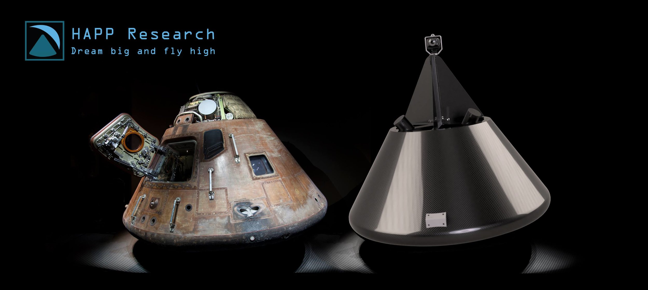 Apollo on the left, HAPP on the right. NASA worked out the aerodynamics and we're not ashamed to plagiarize!