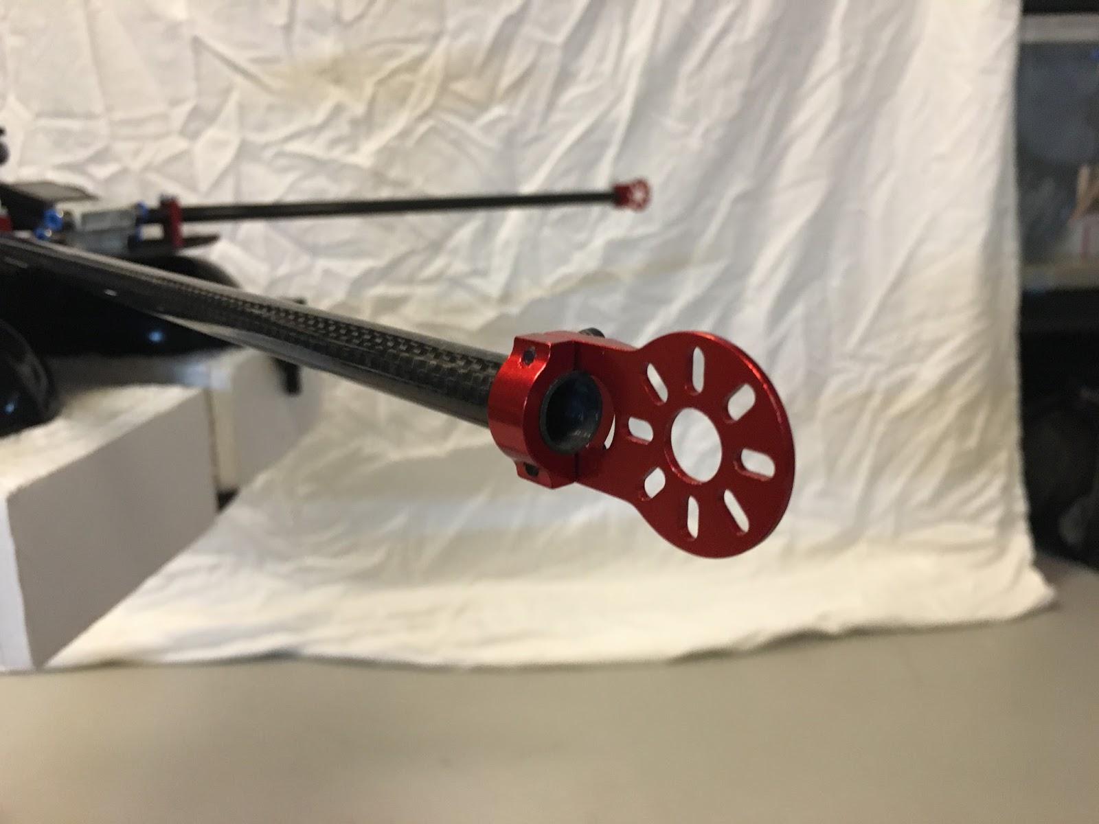Jet nozzle attachment brackets (red anodized aluminum)