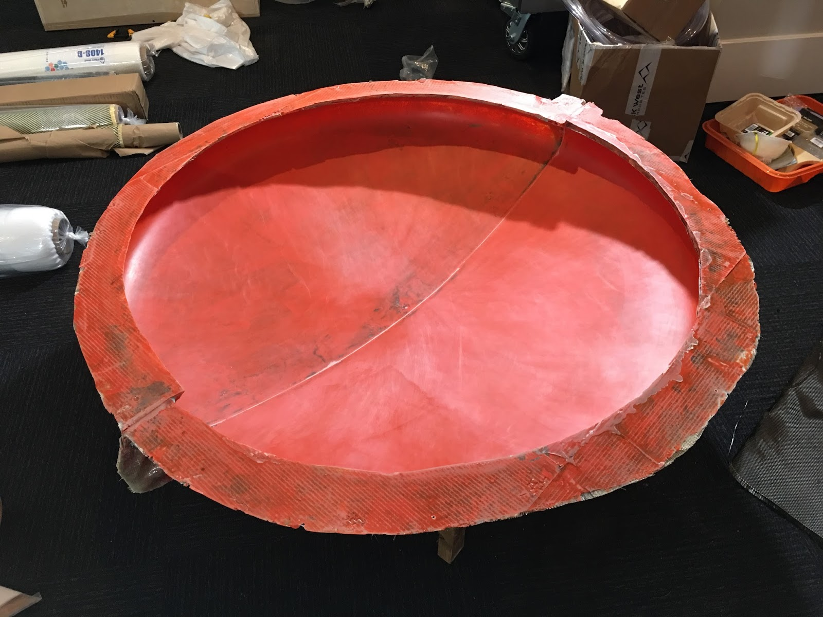 The finished mold surface. Ready for parts. The outside is ugly but the A-surface is pristine. It has it where it counts!
