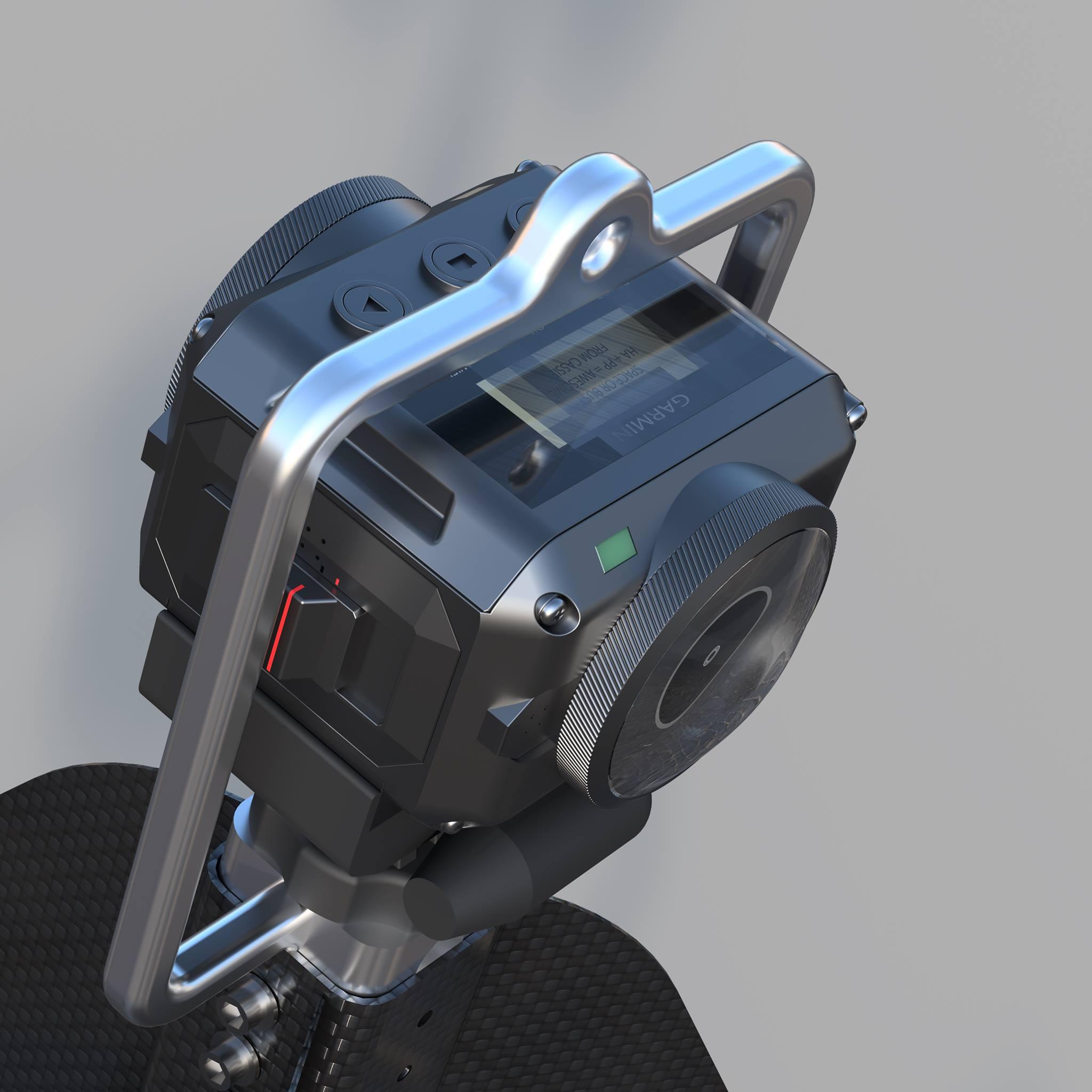 Garmin VIRB 360 mounted inside the balloon tether ring