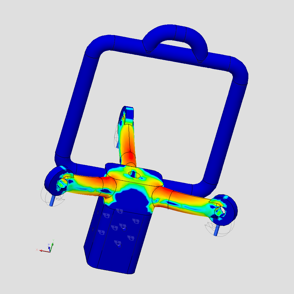 Analysis of safety factor using finite element analysis