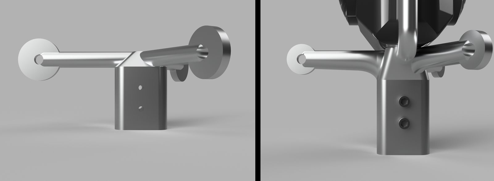 Evolution of parachute arm from v1 to v7 using FEA