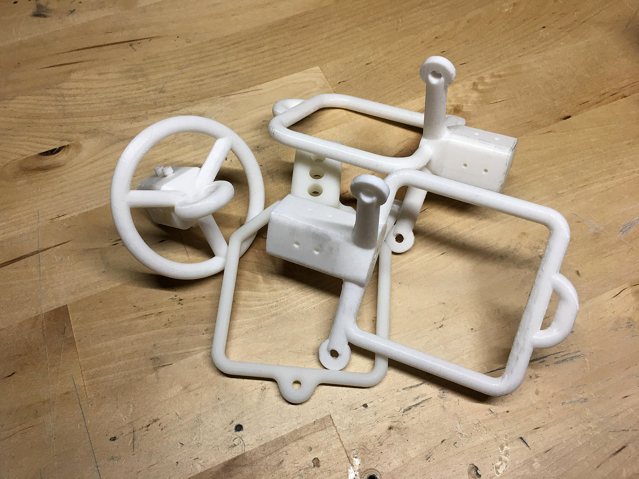 If at first you don't succeed... iterate! These are 3D-printed design versions that failed.