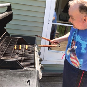 - Sharing a meal with friends is always fun, but grilling makes it better. Chris enjoys many outdoor activities.