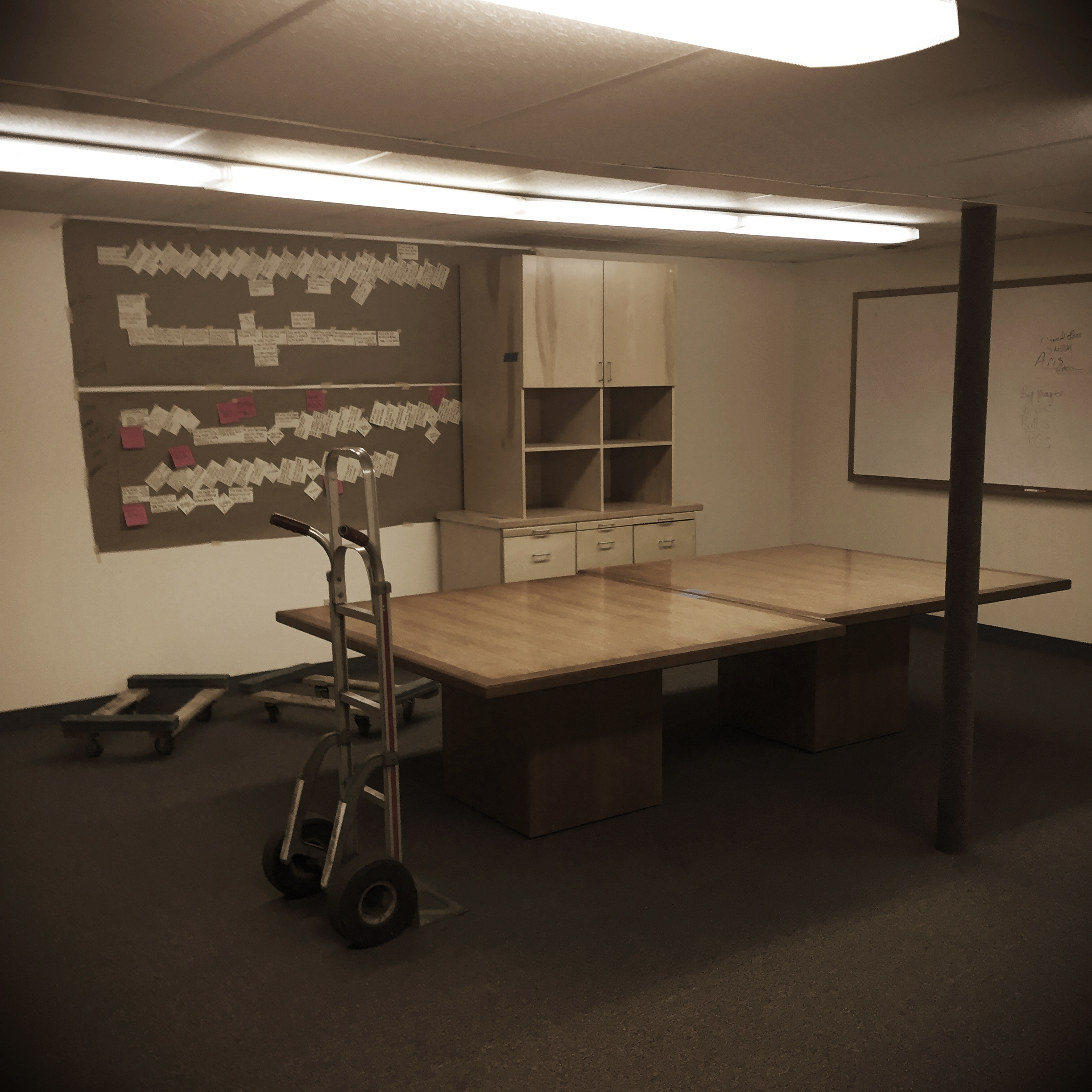 One of our old meeting rooms being emptied out