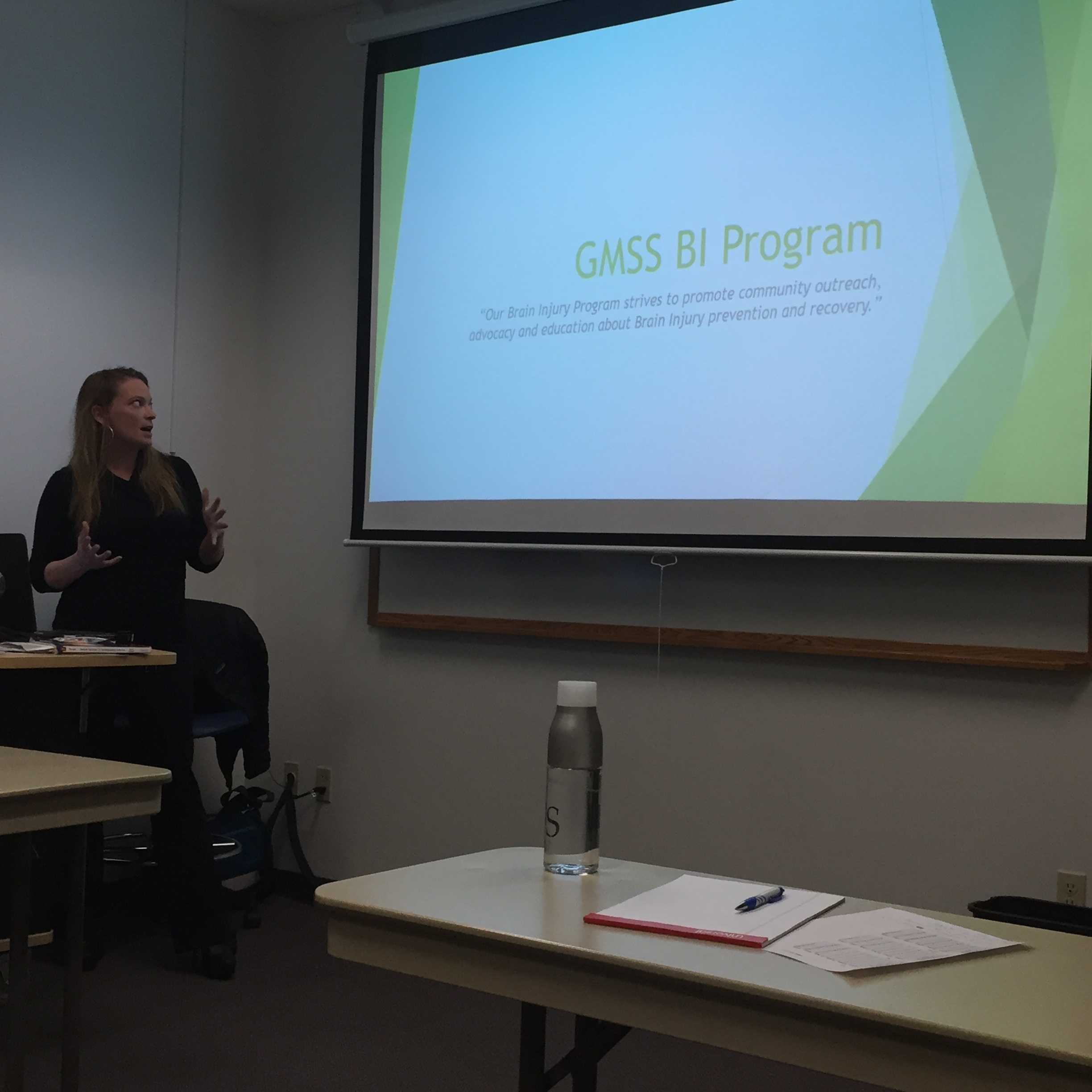 Sonja and Stephanie were guest speakers at  CCV' s Human Services class in early March.