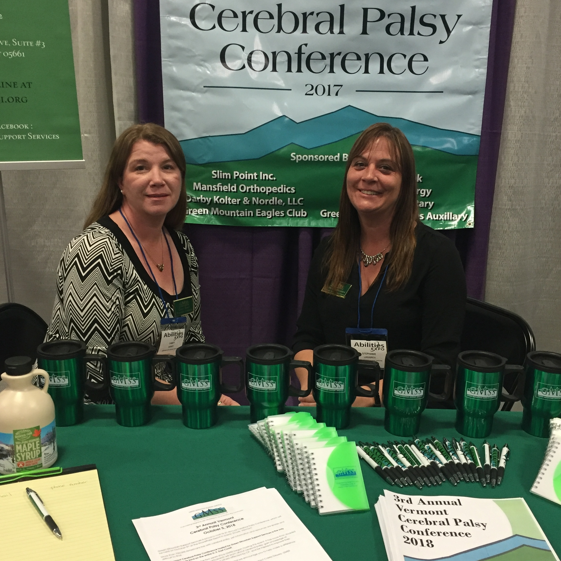 We had a table at the  New York Abilities Expo  in May to promote our Cerebral Palsy Conference