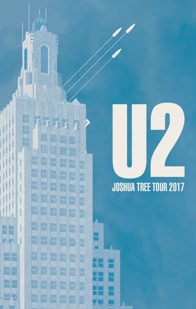 U2 - JOSHUA TREE 2017 TOUR GIG POSTER CONCEPT