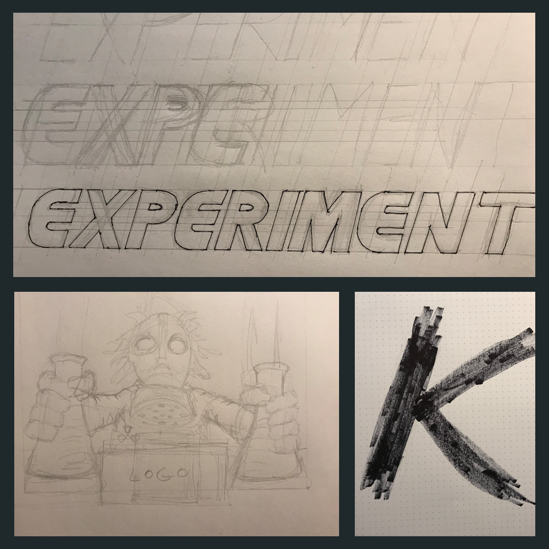 pregress-Sketches-Experiment-K-beer-branding-ale-brewery-logo-label-design-kyle-dolan-illustration.png