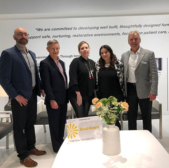 Thanks so much to @kruginc for hosting the American Academy of our Healthcare Interior Designers for breakfast! Great kickoff for @neocon_shows. #krug #AAHID #neocon2019