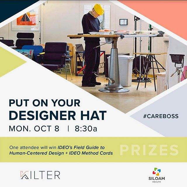 Join Kilter at our #CareBoss session and put on your designer hat! Kilter is committed to Human Centered Design to support Person Centered Care. We invite you to participate as we use design skills to meet everyday challenges. We'll look at the IDEO Human-Centered Design Tool Kit and work together to take the first step in challenge-solving by framing participants' Design Challenges.  Door prizes include one copy