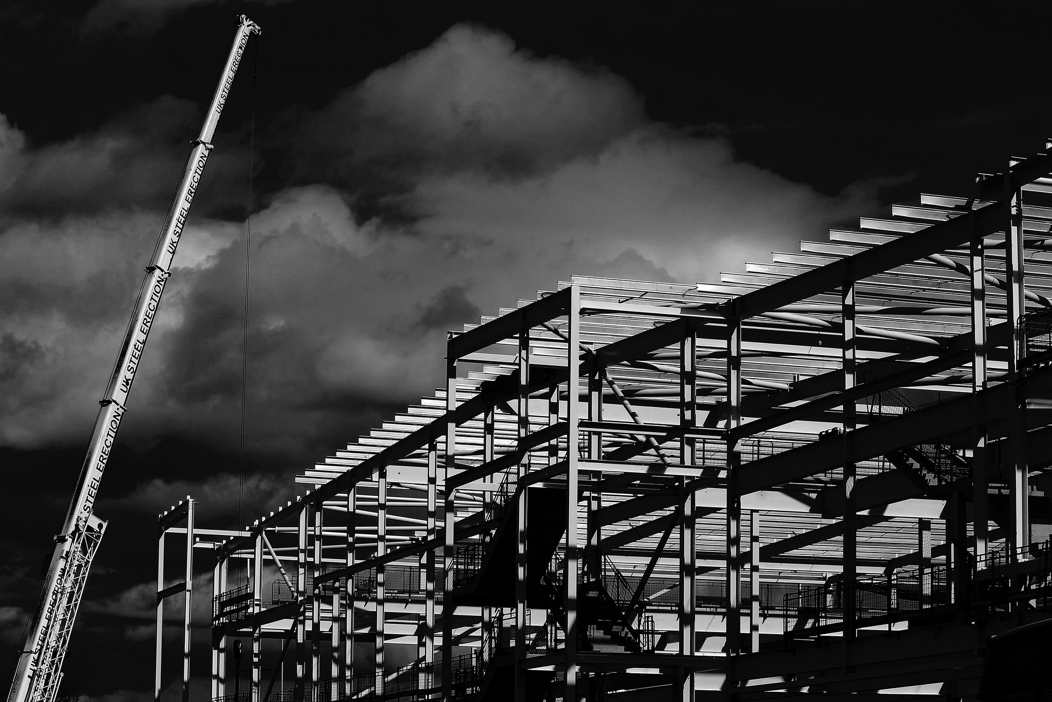 Construction Of A New Tesco, Rotherham. Courtesy  Chris FPage
