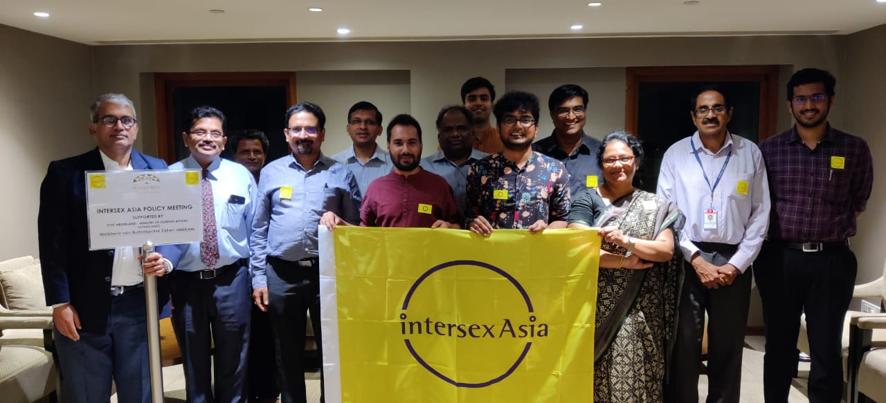 Experts at 1st ever State Policy Meeting on Intersex Human Rights Meeting with Government of Tamil Nadu jointly organised by Intersex Asia
