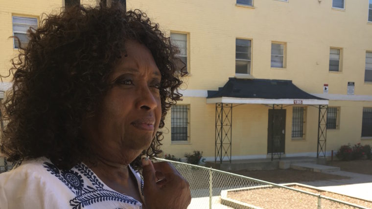 Yvonne Johnson would love a renovated apartment, but not if it means breaking up her family.  Sasha-Ann Simons / WAMU