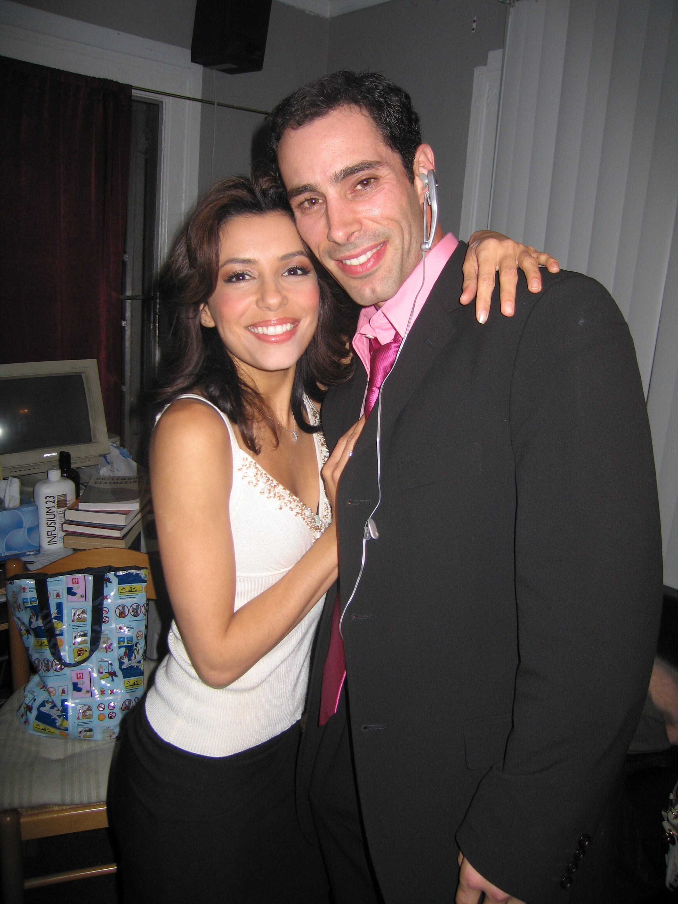 Eva Longoria was still up and coming when we worked on this production.  Desperate Housewives  premiered about a few months earlier :)