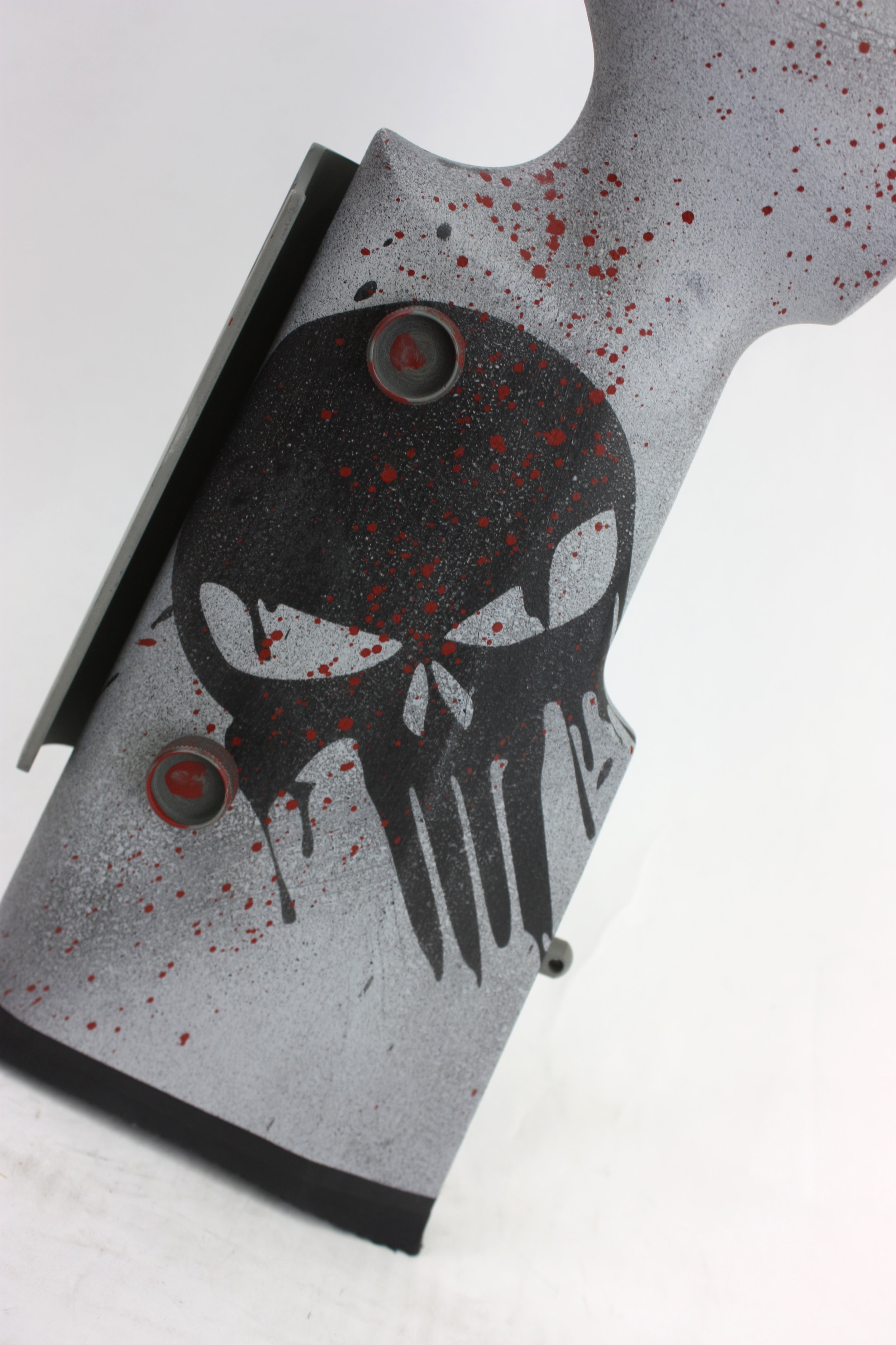 A necessary item on a Punisher Themed rifle is obviously a Punisher Skull.