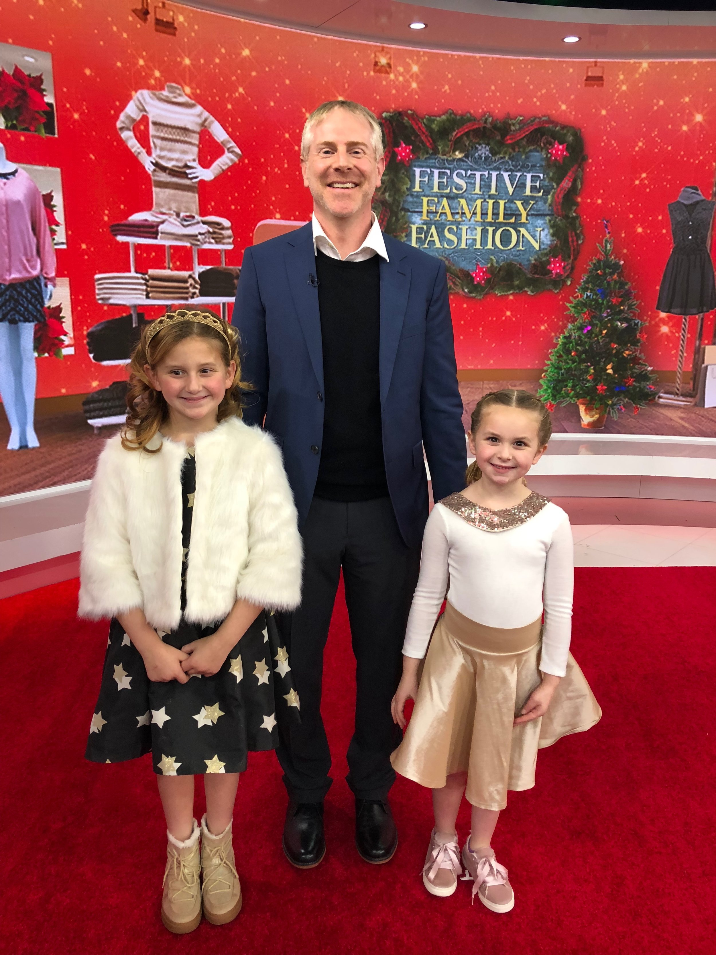 Golden Stars Holiday Family Fashions by fashion expert Amy E. Goodman