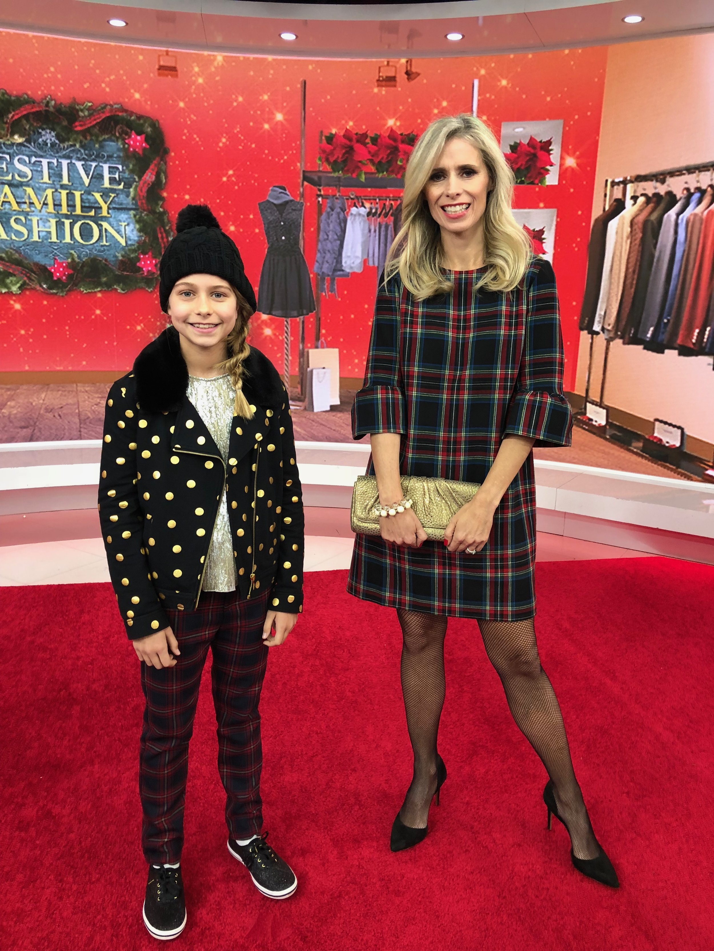 Playful Polka Dots & Plaids Holiday Family Fashions by fashion expert Amy E. Goodman