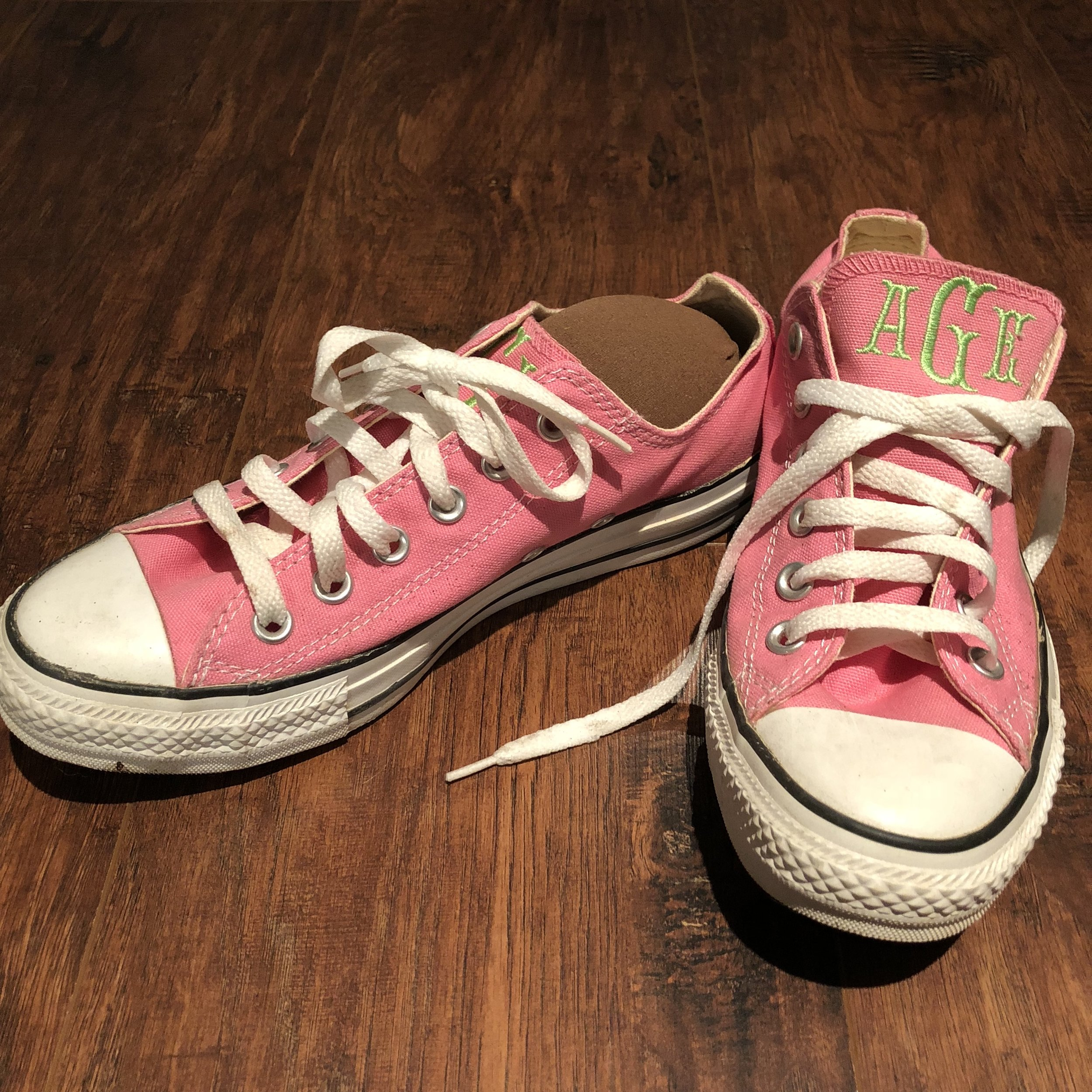 CreativeCoffeeHacks Pink Sneaker with Lifestyle Expert Amy E. Goodman
